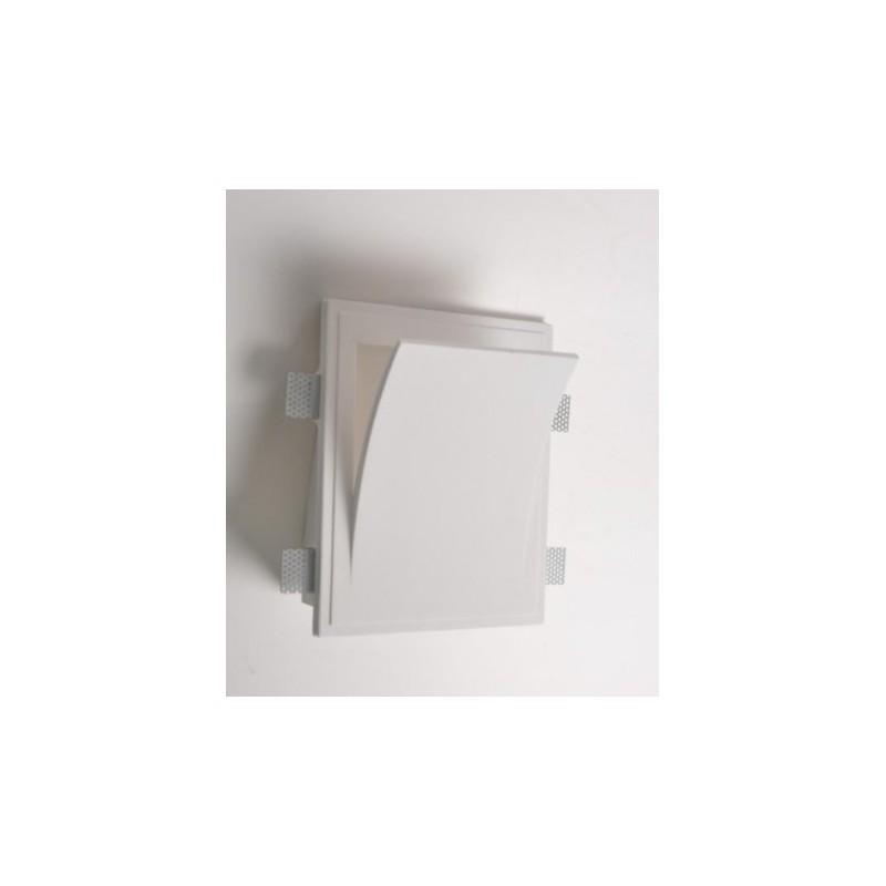 Mw8401 faretto in gesso muro da parete a scomparsa x lampade led design - Lampade a muro design ...