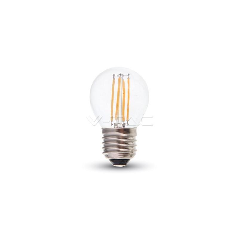 V tac 4427 lampadina led 4w 4500k 220v filamento e27 g45 for Lampade a led 220v