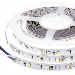 Striscia LED SMD5050 60 LEDs RGB+Bianco freddo IP20