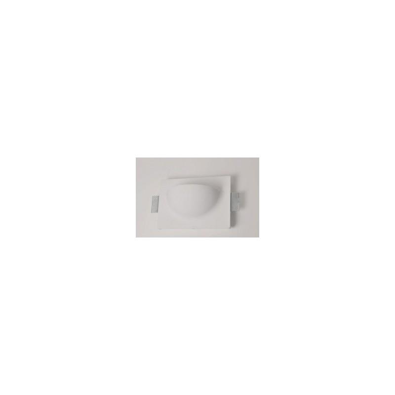 mw8501 FARETTO IN GESSO MURO DA PARETE A SCOMPARSA X LAMPADE LED DESIGN