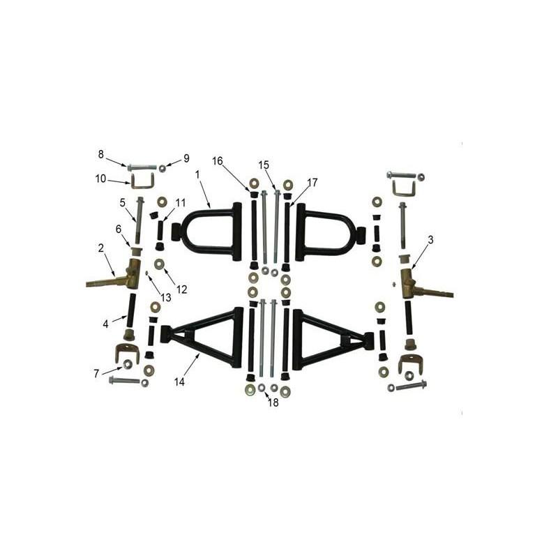 boccole braccetti anteriori quad miniquad 4 tempi 110cc