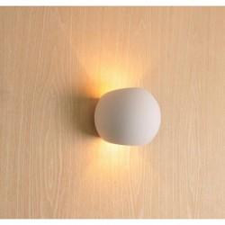 mw-8415 FARETTO DOPPIA LUCE IN GESSO ROTONDO DA ESTERNO MURO X LAMPADE LED G9
