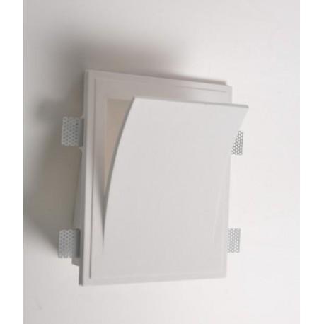 Mw8401 faretto in gesso muro da parete a scomparsa x lampade led design - Lampade da parete design ...