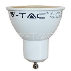 V-TAC 1673 Lampadina LED faretto 7W 4500K GU10 Plastica con Lenti Bianco naturale 110°