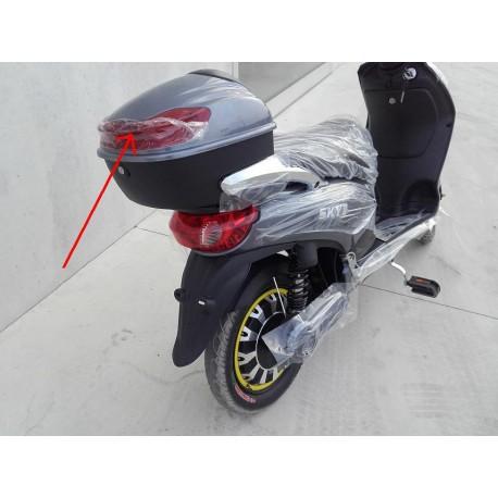 Plastica Riflettente Rossa Del Box Portaoggetti Posteriore Bici Elettrica Scooter Sky Ii Tipo Z Tech