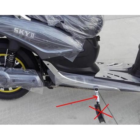 Coppia Pedali Escluso Poggiapiedi Bici Elettrica Scooter Sky Ii Tipo Z Tech