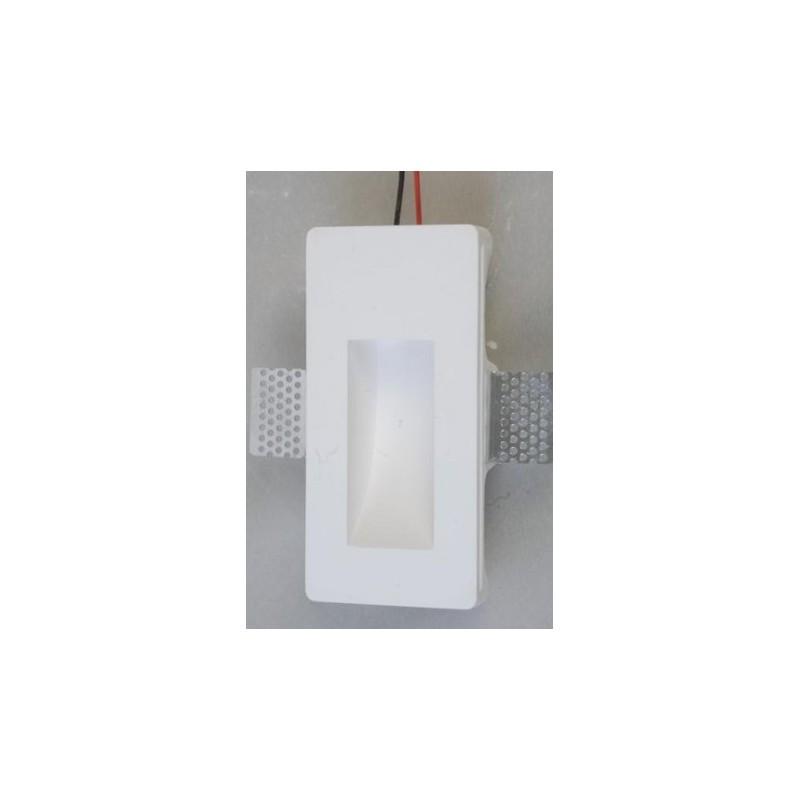 Mw3009 faretto segnapassi in gesso muro da parete a scomparsa x lampade led design - Lampade a muro design ...