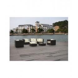 SET 3004 SCOMPONIBILE RATTAN - mobili giardino salotto divano poltrona sofa