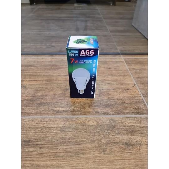 Green Lighting Lampadina LED 7W E27 A66 Bianco Freddo 6400K