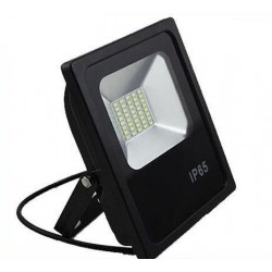FARO ECO-BLACK 50W LED BIANCO 4000K 4500K NEUTRO PARI A 500W LAMPADA IP65 ESTERNO