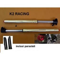 Forcelle k2 ANTERIORI regolabili per pit bike sospensioni racing ammortizzatori