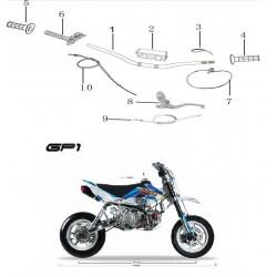 MANUBRIO BASSO MOTARD KAYO GP1 RACING - pit bike stradale minimoto