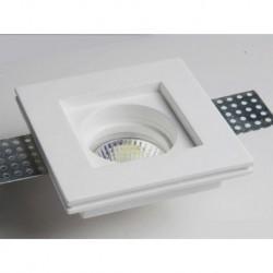 mc9222 FARETTO IN GESSO QUADRATO DA INCASSO X CONTROSOFFITTI A SCOMPARSA X LAMPADE LED