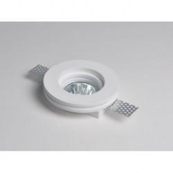 mc9222R FARETTO IN GESSO ROTONDO DA INCASSO X CONTROSOFFITTI A SCOMPARSA X LAMPADE LED